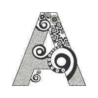 Abstract Alphabet Coloring Book